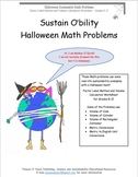 Halloween Factor Label Method and Volume Calculation Worksheet – Grades 7-12