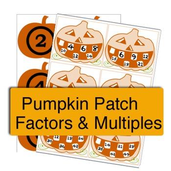"""Fall """"Pumpkin Patch"""" Factor & Multiples Sort"""