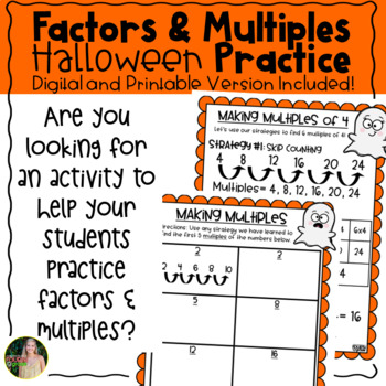 Halloween Factors & Multiples Posters and Practice Pages