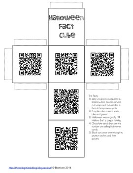 Halloween Facts QR Code Cube