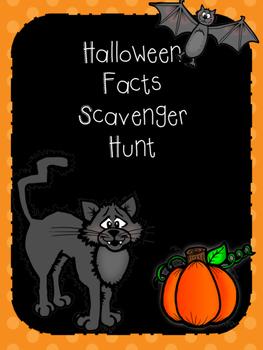 Halloween Facts Scavenger Hunt
