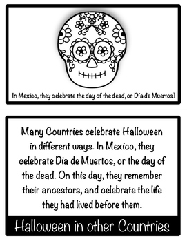 Halloween Facts and Fun Flapbook