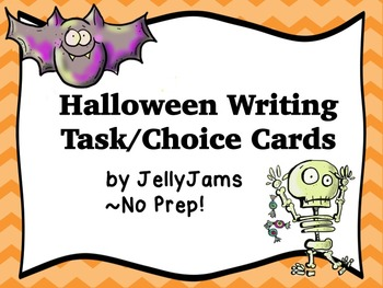Halloween/Fall/Autumn Writing Task/Choice Cards by JellyJams~No Prep!
