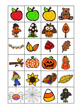 Halloween Fall Bingo