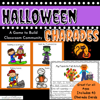 Halloween Fall Charades Game for Morning Meeting, Brain Br