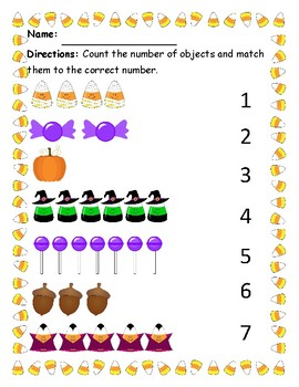 Halloween/Fall Counting Objects (1-7)