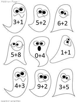 Halloween Fall Holiday Odd and Even with Addition and Subtraction Included