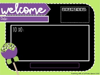 Halloween Morning Message EDITABLE Template with Timers - Fall Theme