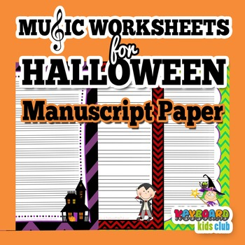Halloween Fall Music Manuscript Paper Pack Large And Small Staff