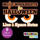 Halloween Fall Music Worksheets Bass Clef & Treble Clef Li