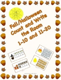 Halloween/Fall Numbers 1-10 and 11-20 Count and Write the