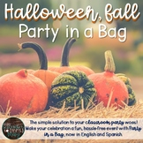 Halloween, Fall Party in a Bag (English & Spanish)