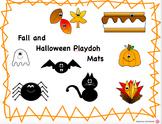 Halloween / Fall Playdoh Mats (Play dough)