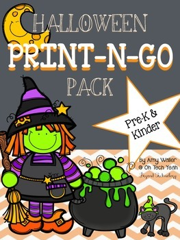 Halloween/Fall Print-n-Go Pack for Pre-K and Kindergarten