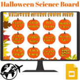Halloween/Fall Science Experiment Choice Board - 2 Versions