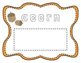 Halloween/Fall Sight Word Cards