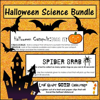 Halloween, Fall, Thanksgiving Science STEM and Inquiry Bundle-6 activities