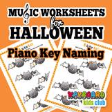 Halloween Fall Music Piano White Key Naming Worksheet Musi