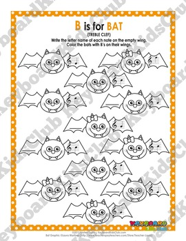 Halloween Fall Themed Music Worksheets Bass Clef & Treble Clef Line Note Naming