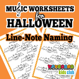 Halloween Fall Themed Music Worksheets Bass Clef & Treble