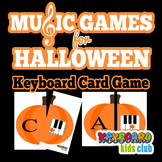 Halloween Fall Themed Piano Keyboard Note Naming Card Game