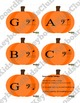 Music Games for Halloween Bass Clef Note Naming Card Game Activity