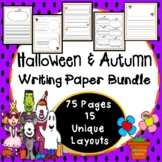 Halloween & Autumn Writing Paper Bundle