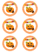 Halloween/Fall Treat Tags