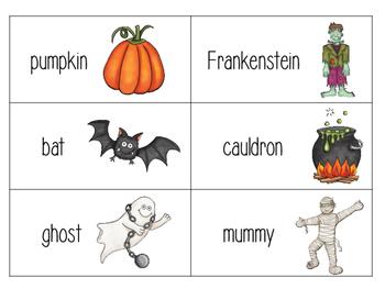 Halloween/Fall Writing Vocabulary