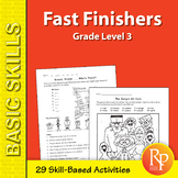 Fast Finishers Skill-Based Activities for Third Grade