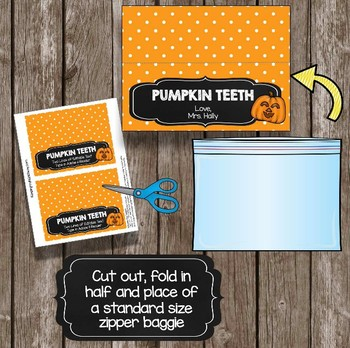 Halloween Favor Cards - EDITABLE - Baggie Toppers