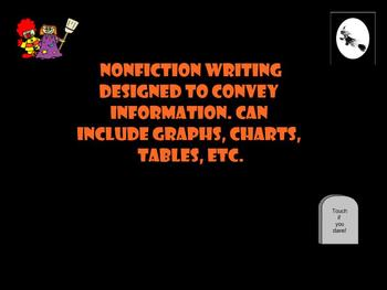 SMART Board: English: Terms: Halloween Feature Article Game: Smartboard