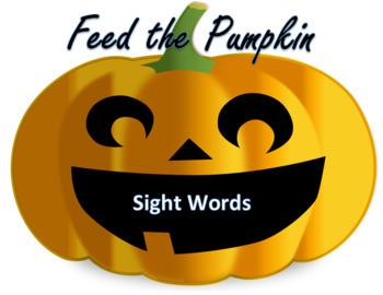 Halloween Feed the Pumpkin Sight Words - VIPKID Level 2 Interactive list