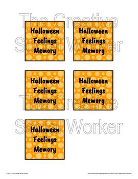 Halloween Feelings Memory Game