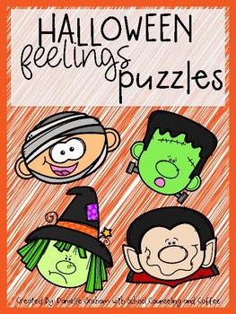Halloween Feelings Puzzles Emotions Centers