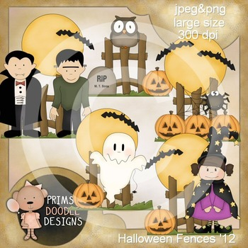 Halloween Fences 300 dpi Clipart