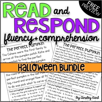 Halloween Fiction Reading Passages - Fluency & Comprehension - FREE!