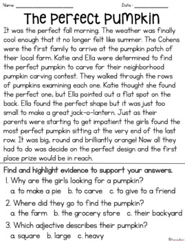 Halloween Fiction Reading Passages - Fluency & Comprehension