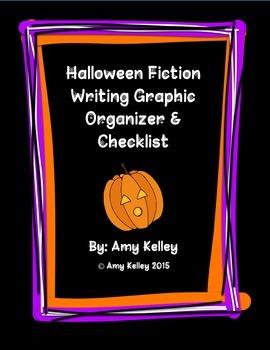 Halloween Fiction Writing Graphic Organizer & Checklist