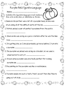 Halloween Figurative Language Bundle