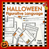 Halloween Activity Figurative Language Task Cards