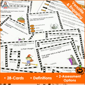 Halloween Activity Figurative Language Task Cards