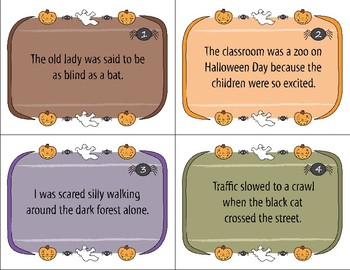 Halloween Task Cards - Figurative Language