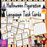 Halloween Figurative Language Task Cards Activity - ID & Explain + Writing Sheet