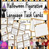Halloween Figurative Language Task Cards Activity - ID & E