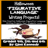 "Halloween Writing ""Figurative Language"" Creative Writing Projects!"