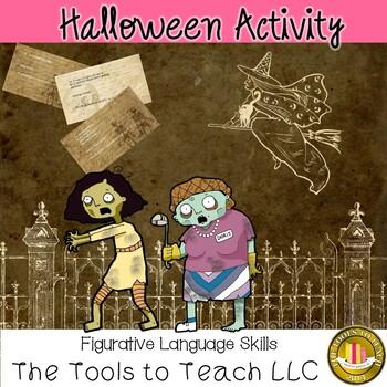 Halloween Figurative Language Similes Metaphors Hyperbole Idioms Cliches