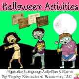 Halloween Figurative Language Similes Metaphors Hyperbole Idioms Cliches