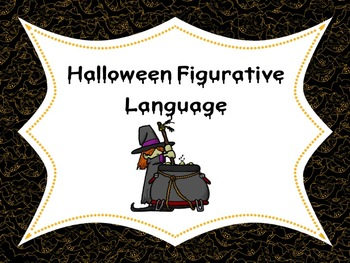 Halloween Figurative Language using Context Clues.