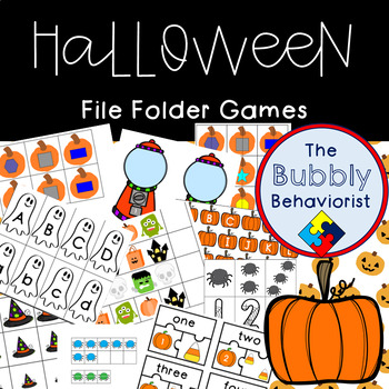 Halloween File Folder Games